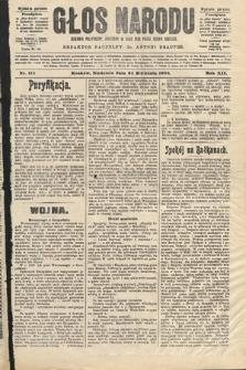 Głos Narodu : dziennik polityczny, założony w roku 1893 przez Józefa Rogosza (wydanie poranne). 1904, nr114