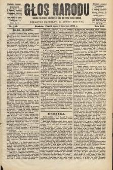 Głos Narodu : dziennik polityczny, założony w roku 1893 przez Józefa Rogosza (wydanie poranne). 1904, nr153