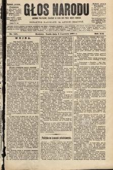 Głos Narodu : dziennik polityczny, założony w roku 1893 przez Józefa Rogosza (wydanie poranne). 1904, nr158