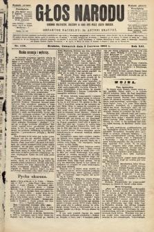 Głos Narodu : dziennik polityczny, założony w roku 1893 przez Józefa Rogosza (wydanie poranne). 1904, nr159