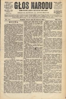 Głos Narodu : dziennik polityczny, założony w roku 1893 przez Józefa Rogosza (wydanie poranne). 1904, nr174