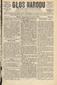 Głos Narodu : dziennik polityczny, założony w roku 1893 przez Józefa Rogosza (wydanie poranne). 1904, nr176