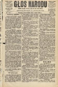 Głos Narodu : dziennik polityczny, założony w roku 1893 przez Józefa Rogosza (wydanie poranne). 1904, nr184