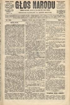 Głos Narodu : dziennik polityczny, założony w roku 1893 przez Józefa Rogosza (wydanie poranne). 1904, nr200