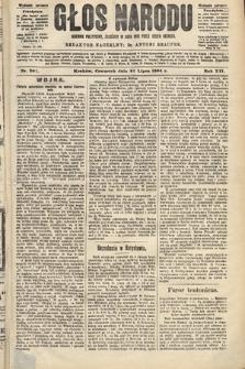 Głos Narodu : dziennik polityczny, założony w roku 1893 przez Józefa Rogosza (wydanie poranne). 1904, nr201