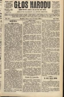 Głos Narodu : dziennik polityczny, założony w roku 1893 przez Józefa Rogosza (wydanie poranne). 1904, nr207