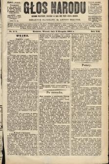 Głos Narodu : dziennik polityczny, założony w roku 1893 przez Józefa Rogosza (wydanie poranne). 1904, nr213