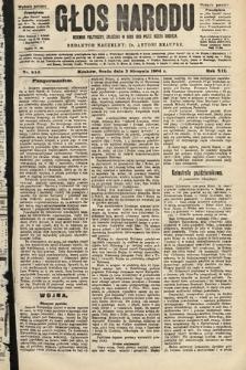 Głos Narodu : dziennik polityczny, założony w roku 1893 przez Józefa Rogosza (wydanie poranne). 1904, nr214