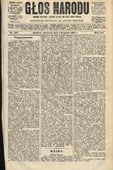 Głos Narodu : dziennik polityczny, założony w roku 1893 przez Józefa Rogosza (wydanie poranne). 1904, nr215