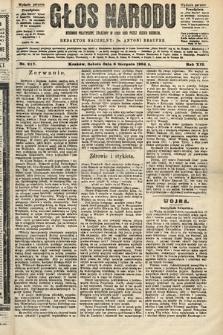 Głos Narodu : dziennik polityczny, założony w roku 1893 przez Józefa Rogosza (wydanie poranne). 1904, nr217