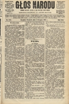 Głos Narodu : dziennik polityczny, założony w roku 1893 przez Józefa Rogosza (wydanie poranne). 1904, nr218