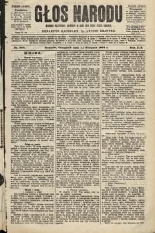 Głos Narodu : dziennik polityczny, założony w roku 1893 przez Józefa Rogosza (wydanie poranne). 1904, nr222