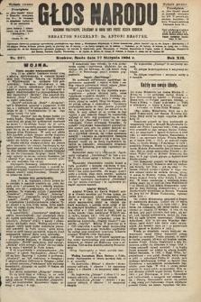 Głos Narodu : dziennik polityczny, założony w roku 1893 przez Józefa Rogosza (wydanie poranne). 1904, nr227