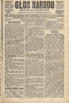 Głos Narodu : dziennik polityczny, założony w roku 1893 przez Józefa Rogosza (wydanie poranne). 1904, nr244