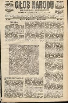 Głos Narodu : dziennik polityczny, założony w roku 1893 przez Józefa Rogosza (wydanie poranne). 1904, nr245