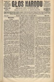 Głos Narodu : dziennik polityczny, założony w roku 1893 przez Józefa Rogosza (wydanie poranne). 1904, nr247