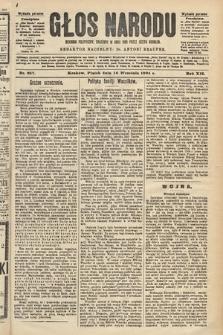 Głos Narodu : dziennik polityczny, założony w roku 1893 przez Józefa Rogosza (wydanie poranne). 1904, nr257