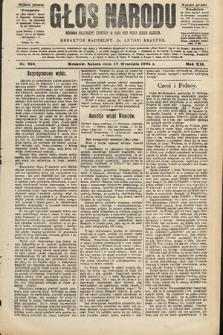 Głos Narodu : dziennik polityczny, założony w roku 1893 przez Józefa Rogosza (wydanie poranne). 1904, nr258