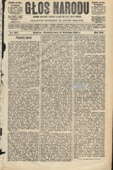 Głos Narodu : dziennik polityczny, założony w roku 1893 przez Józefa Rogosza (wydanie poranne). 1904, nr259