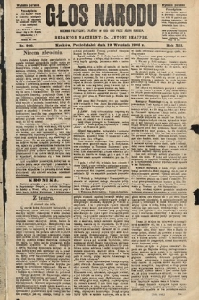 Głos Narodu : dziennik polityczny, założony w roku 1893 przez Józefa Rogosza (wydanie poranne). 1904, nr260