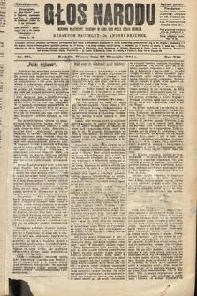 Głos Narodu : dziennik polityczny, założony w roku 1893 przez Józefa Rogosza (wydanie poranne). 1904, nr261