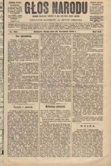 Głos Narodu : dziennik polityczny, założony w roku 1893 przez Józefa Rogosza (wydanie poranne). 1904, nr262