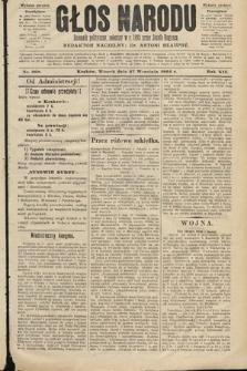 Głos Narodu : dziennik polityczny, założony w roku 1893 przez Józefa Rogosza (wydanie poranne). 1904, nr268
