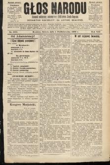 Głos Narodu : dziennik polityczny, założony w roku 1893 przez Józefa Rogosza (wydanie poranne). 1904, nr272