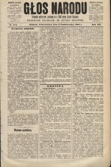 Głos Narodu : dziennik polityczny, założony w roku 1893 przez Józefa Rogosza (wydanie poranne). 1904, nr274