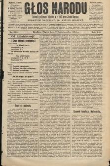 Głos Narodu : dziennik polityczny, założony w roku 1893 przez Józefa Rogosza (wydanie poranne). 1904, nr278