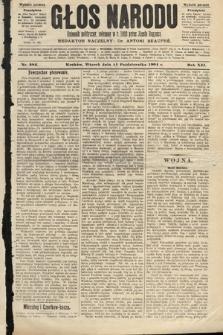 Głos Narodu : dziennik polityczny, założony w roku 1893 przez Józefa Rogosza (wydanie poranne). 1904, nr282