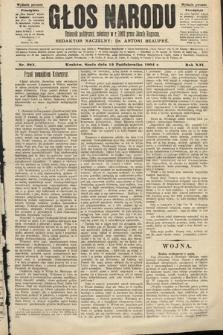 Głos Narodu : dziennik polityczny, założony w roku 1893 przez Józefa Rogosza (wydanie poranne). 1904, nr283
