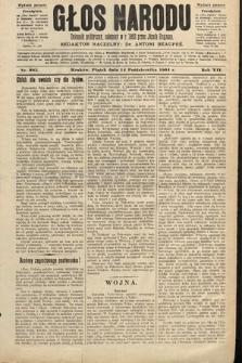 Głos Narodu : dziennik polityczny, założony w roku 1893 przez Józefa Rogosza (wydanie poranne). 1904, nr285