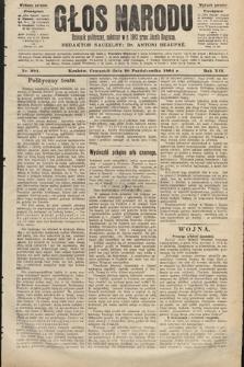 Głos Narodu : dziennik polityczny, założony w roku 1893 przez Józefa Rogosza (wydanie poranne). 1904, nr291