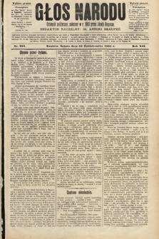 Głos Narodu : dziennik polityczny, założony w roku 1893 przez Józefa Rogosza (wydanie poranne). 1904, nr293