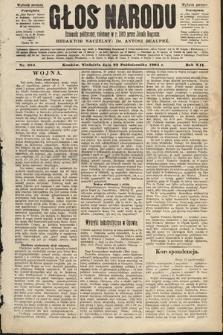 Głos Narodu : dziennik polityczny, założony w roku 1893 przez Józefa Rogosza (wydanie poranne). 1904, nr294