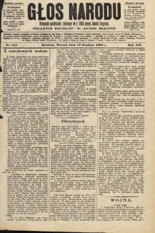 Głos Narodu : dziennik polityczny, założony w roku 1893 przez Józefa Rogosza (wydanie poranne). 1904, nr345