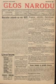 Głos Narodu. 1927, nr4