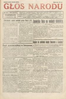 Głos Narodu. 1931, nr254