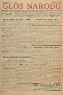 Głos Narodu. 1934, nr176