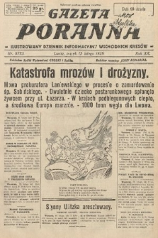 Gazeta Poranna : ilustrowany dziennik informacyjny wschodnich kresów. 1929, nr8773