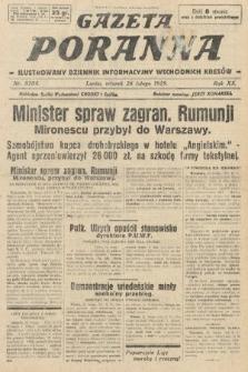 Gazeta Poranna : ilustrowany dziennik informacyjny wschodnich kresów. 1929, nr8784