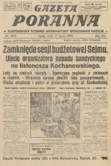 Gazeta Poranna : ilustrowany dziennik informacyjny wschodnich kresów. 1929, nr8813