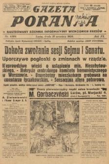 Gazeta Poranna : ilustrowany dziennik informacyjny wschodnich kresów. 1929, nr8984