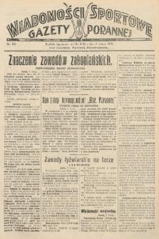 Wiadomości Sportowe Gazety Porannej. 1929, nr132