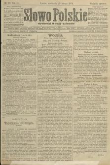 Słowo Polskie (wydanie poranne). 1904, nr101