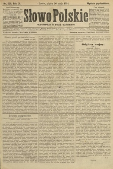 Słowo Polskie (wydanie popołudniowe). 1904, nr238