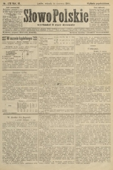Słowo Polskie (wydanie popołudniowe). 1904, nr278