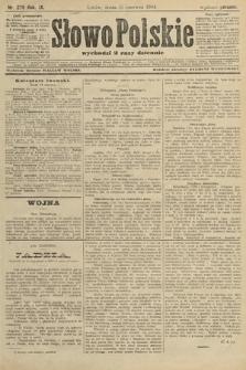 Słowo Polskie (wydanie poranne). 1904, nr279