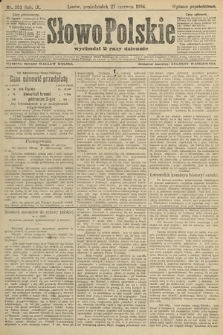 Słowo Polskie (wydanie popołudniowe). 1904, nr300